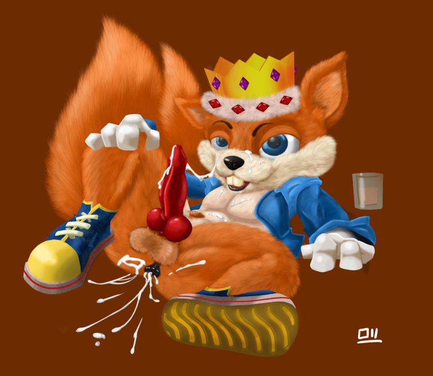 bad jugga fur day conker's Filling pussy with cum gif